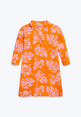 SLEEPY JONES | Jane Tunic in Orange & Pink Aloha Floral
