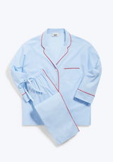 SLEEPY JONES | Marina Pajama Set in Blue End on End