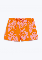SLEEPY JONES | Paloma Short in Orange & Pink Aloha Floral