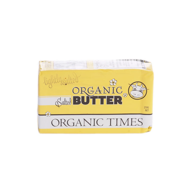 Organic Times 100% Grass Fed Salted Butter