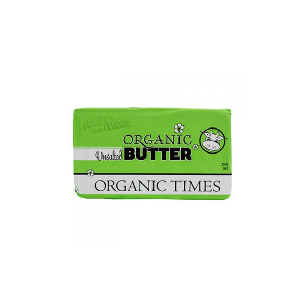 Organic Times 100% Grass Fed Unsalted Butter