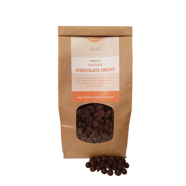 Organic Cocoa Dark Chocolate Drops 70%