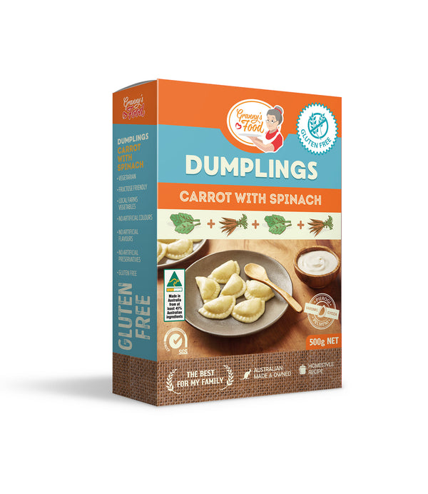 Granny's Food Gluten Free Carrot with Spinach Dumplings 500gr (Frozen)