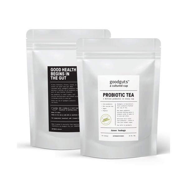 GoodGuts Organic Probiotic Green Tea - 28 bags