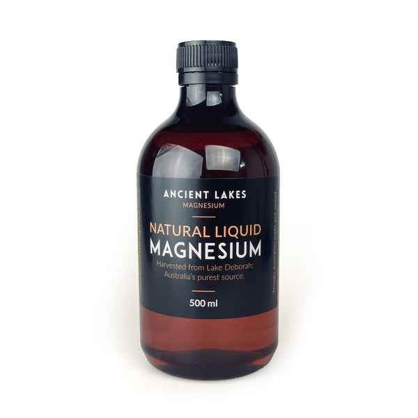 Ancient Lakes <br> Concentrated Ionic <br> Magnesium Liquid
