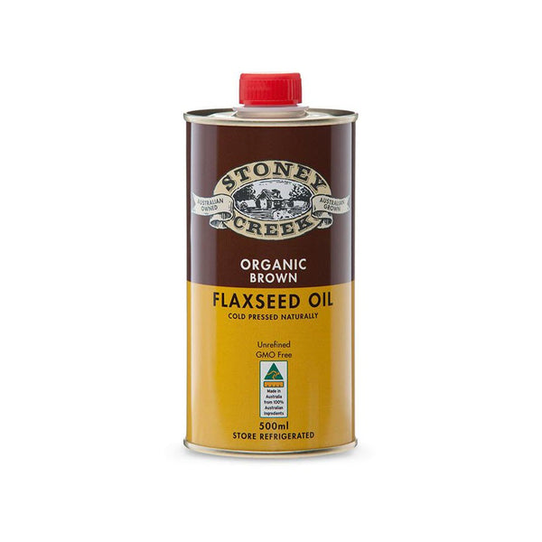 Stoney Creek Brown Organic Flaxseed Oil