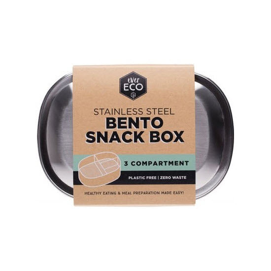EVER ECO Stainless Steel Snack Box - 3 Compartments