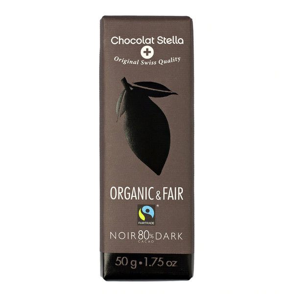Organic & Fair Vegan and Gluten Free 80% Dark Chocolate 50gr