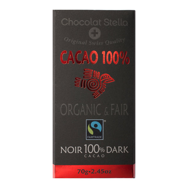 Organic & Fair Gluten <br> Free 100% Dark Chocolate <br> 70gr