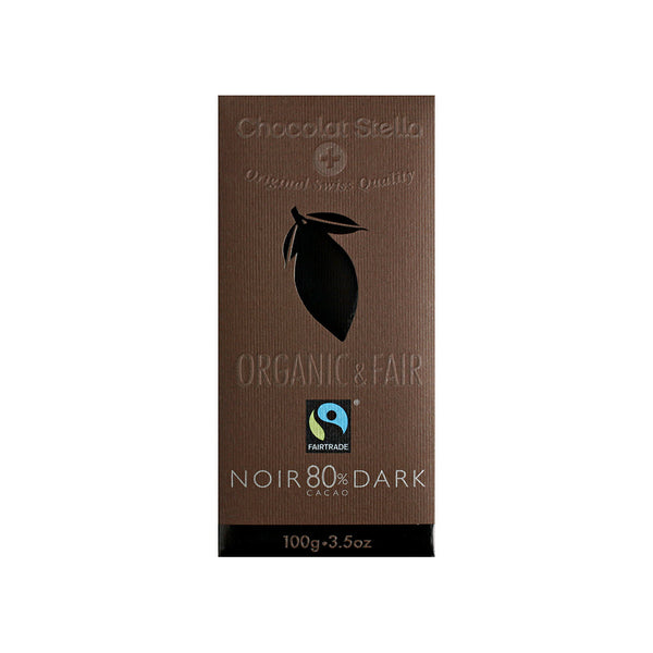 Organic & Fair Vegan and Gluten Free 80% Dark Chocolate 100gr