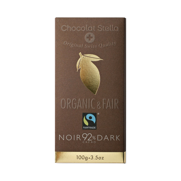 Organic & Fair Gluten Free 92% Dark Chocolate 100gr