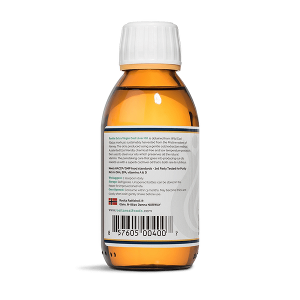 Rosita Extra Virgin Cod Liver <br> Oil Liquid 150ml + Ice Pack