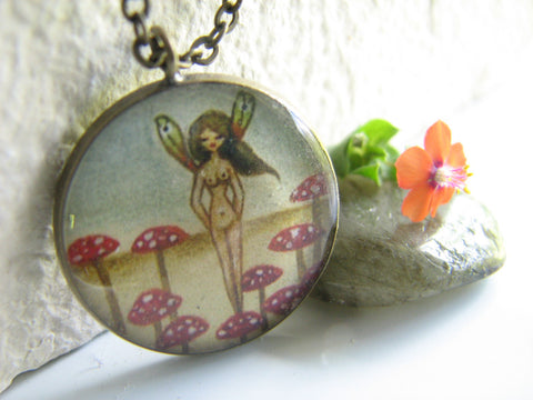 Fairy in Mushroom Patch