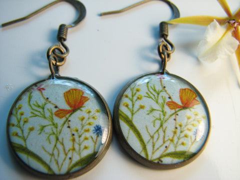 Blue Sky Wildflowers (Earrings)