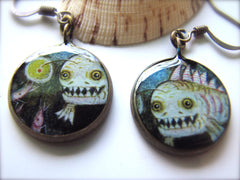 Terror inducing Anglerfish! Ahhh! (Earrings)