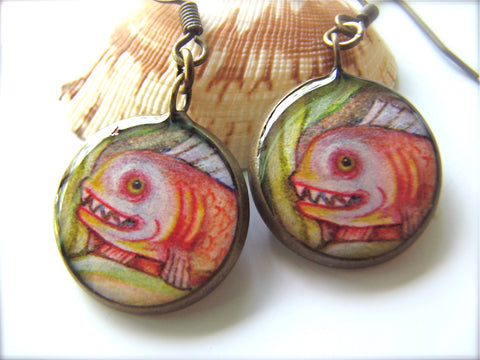 Rainbow Fish (Earrings)