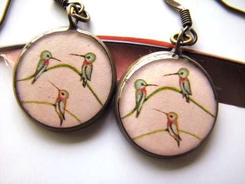 Hummingbird Trio! (Earrings)