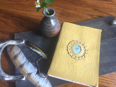 5x7 Leather Journal (Dragonfly)
