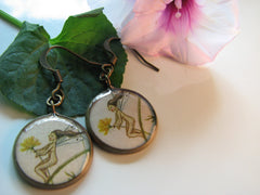 Fairy and Dandelion Flower (Earrings)