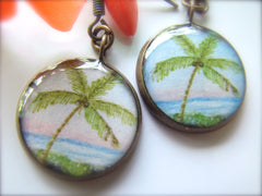 Breezy Coconut Palm (Earrings)
