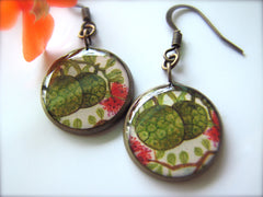 Breadfruit and Lehua Blossoms (Earrings)