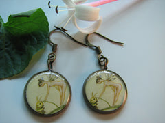 Fairy Feeding a Caterpillar (Earrings)
