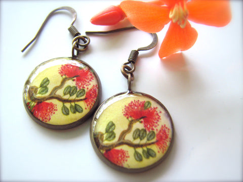 Lehua Blossoms (Earrings)