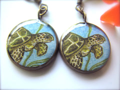 Honu in Ocean (Earrings)