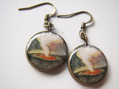 Kilauea Caldera (Earrings)