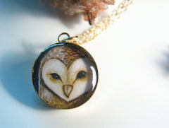 14k Gold Fill Barn Owl (Small Size)