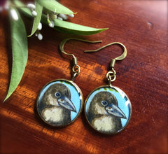 Alala; Native Hawaiian Crow (Earrings)