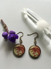 Red Dragon (Earrings)