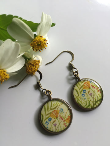 California Poppies (Earrings)