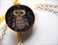 14k Gold Fill Night Owl (Large Size)