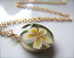 14k Gold Fill Plumeria Flower (Large Size)
