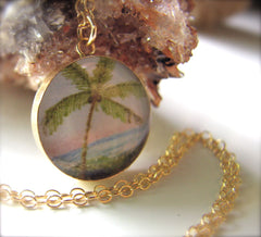 14k Gold Fill Palm Tree (Large Size)