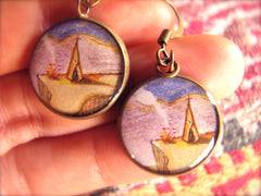 "Teepee ""Happy Place"" (Earrings)"