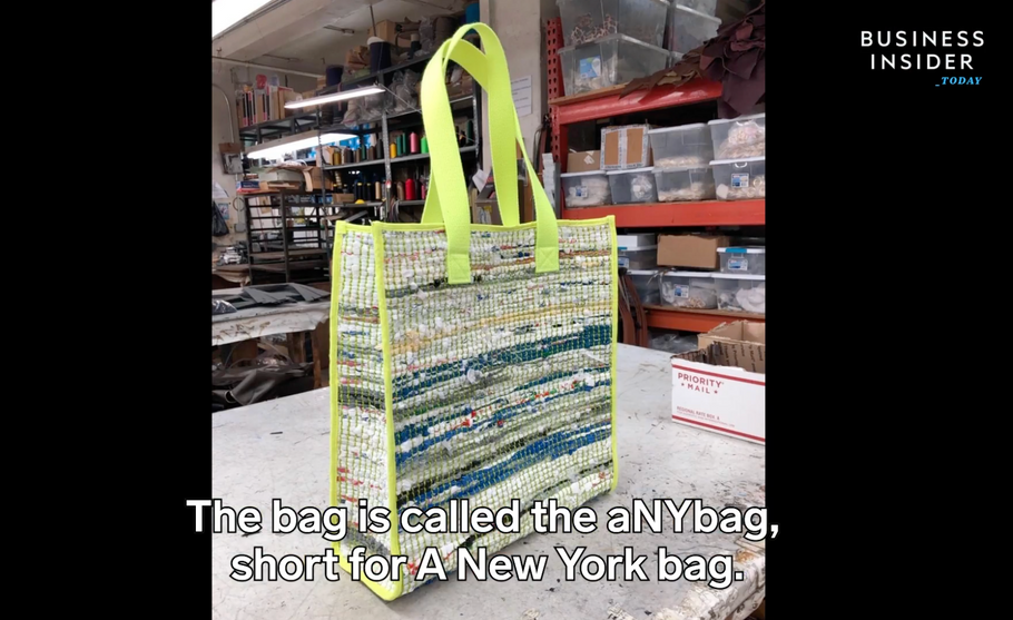 Business Insider - As New Yorkers adjust to a citywide ban on plastic bags, one designer is turning plastic bags into luxury totes.