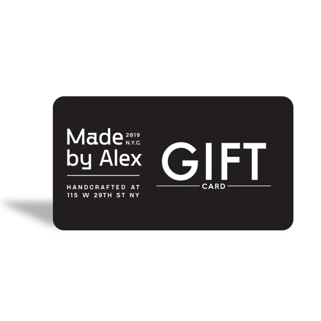 Digital Gift Card - Gift Card Made in USA | Made By Alex