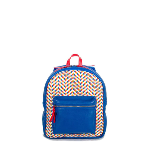 Mini Backpack - Royal Blue with Red Trim (Kids Backpack) - Backpack Made in USA | Made By Alex
