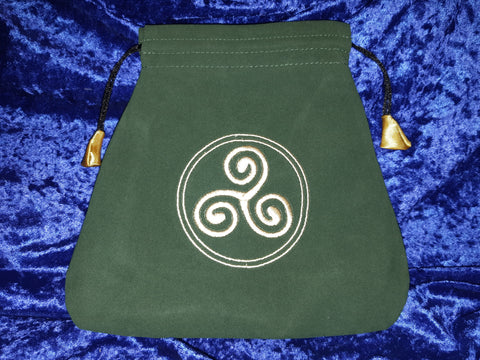 TAROT BAG VELVET CELTIC TRISKEL - Eldertree Apothecary