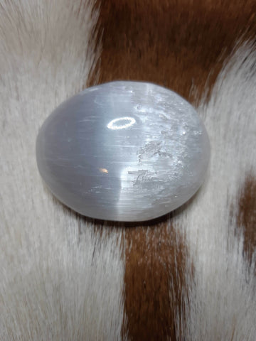 Selenite Palm Stone - Eldertree Apothecary