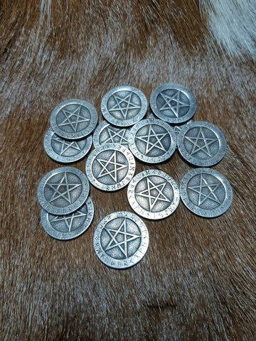 Pentagram Coin - Eldertree Apothecary