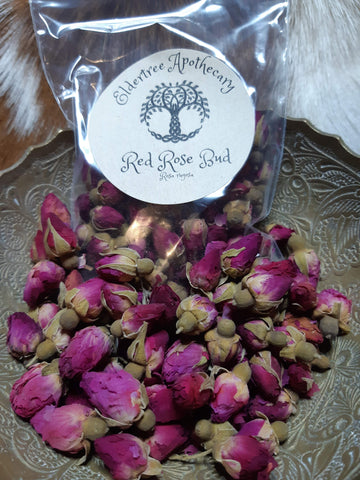 Red Rose Buds - 25g - Eldertree Apothecary