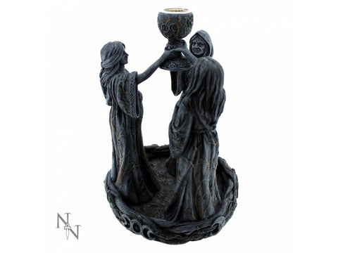 Mother Maiden & Crone Backflow Incense Burner 18cm - Eldertree Apothecary