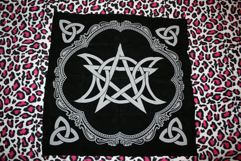 Pentagram Altar/Tarot cloth - Eldertree Apothecary
