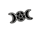 Cresent Pentagram Pin - Eldertree Apothecary