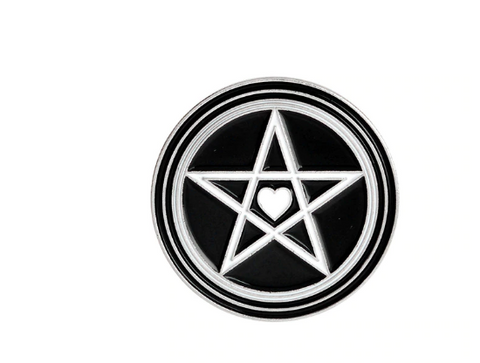 Pentagram Love Pin - Eldertree Apothecary