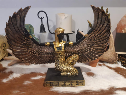 Isis Statue, Black & Gold - Eldertree Apothecary