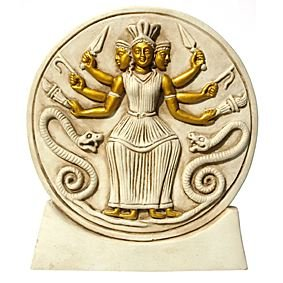 Hecate - Ivory & Gold on Stand 156mm - Eldertree Apothecary